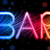 bar sign abstract colorful waves on black background stock photo © gubh83
