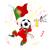 ポルトガル · サッカー · ファン · フラグ · 漫画 · ベクトル - ストックフォト © gubh83