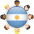 Argentinië · vlag · glanzend · knop · vector · glas - stockfoto © gubh83
