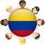 Колумбия · вектора · набор · подробный · стране · форма - Сток-фото © gubh83