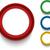szett · színes · gombok · ikonok · vektor · négy - stock fotó © gubh83
