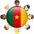 Камерун · флаг · кнопки · вектора · стекла - Сток-фото © gubh83
