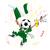 ナイジェリア · サッカー · ファン · フラグ · 漫画 · ベクトル - ストックフォト © gubh83