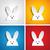 buona · pasqua · coniglio · coniglio · set · cartoon · vettore - foto d'archivio © gubh83