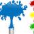 azul · vermelho · amarelo · verde · pintar · salpico - foto stock © gubh83