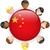 odznakę · projektu · banderą · Chiny · ilustracja · tle - zdjęcia stock © gubh83