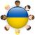 Украина · флаг · продовольствие · карта · синий · путешествия - Сток-фото © gubh83