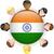 Hindistan · bayrak · parlak · düğme · vektör · cam - stok fotoğraf © gubh83