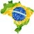 Brazil Flag Wave Yellow Green Blue Background stock photo © gubh83