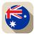 australia flag button icon modern stock photo © gubh83