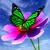 晴れた · 緑 · フィールド · てんとう虫 · 蝶 · 花 - ストックフォト © guru3d