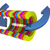 3d colorful abstract cut pipe and arrows stock photo © guru3d