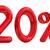 piros · húsz · százalék · felirat · fehér · üzlet - stock fotó © guru3d