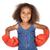 afro-amerikaanse · meisje · rode · jurk · mooie · jonge · vrouw - stockfoto © handmademedia