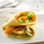 delicious vegetable tortilla wrap with melted mozarella cheese stock photo © hansgeel
