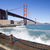 Golden Gate Bridge with the waves stock photo © hanusst