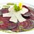 vegetarian beetroot carpaccio w goat cheese and pesto stock photo © hanusst