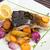 grilled carp with vegetable garnish stock photo © hanusst