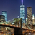 the new york city skyline w brooklyn bridge stock photo © hanusst