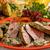 гриль · свинина · мексиканских · стиль · грибы · кремом - Сток-фото © hanusst