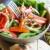 salada · queijo · pão · garfo · pimenta · almoço - foto stock © happydancing