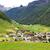 山 · 村 · アルプス山脈 · 伝統的な · 建物 · 空 - ストックフォト © haraldmuc