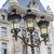 metallic retro lamppost in paris france stock photo © haraldmuc