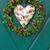christmas · krans · houten · deur · handgemaakt · winter - stockfoto © haraldmuc