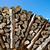 yakacak · odun · mavi · gökyüzü · bahar · ağaç · arka · plan · enerji - stok fotoğraf © haraldmuc