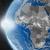 zonsondergang · afrikaanse · continent · ruimte · aarde · politiek - stockfoto © harlekino