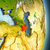 Asia · mapa · Azerbaiyán · país · mapas · botón - foto stock © harlekino