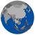 southeast asia on earth political map stock photo © harlekino