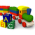 brinquedo · de · madeira · trem · ilustração · 3d · colorido · madeira · modelo - foto stock © harlekino