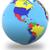 western hemisphere on the globe stock photo © harlekino