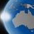 naplemente · ausztrál · földrész · űr · Föld · politikai - stock fotó © harlekino