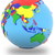 southeast asia on the globe stock photo © harlekino