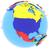 polityczny · na · północ · Ameryki · Pokaż · kraju · banderą - zdjęcia stock © harlekino