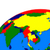 Délkelet-Ázsia · politikai · térkép · földgömb · illusztráció · izolált - stock fotó © harlekino