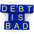 adósság · figyelmeztetés · illusztrált · piros · veszély · figyelmeztető · jel - stock fotó © harlekino