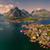 aerial lofoten panorama stock photo © harlekino