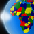 sunset over african continent from space stock photo © harlekino