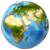 planeta · terra · modelo · isolado · branco · África · europa - foto stock © harlekino