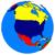 észak · amerikai · földrész · politikai · földgömb · illusztráció - stock fotó © harlekino
