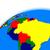 Южной · Америке · земле · политический · карта · мира · путешествия - Сток-фото © harlekino