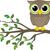 bonitinho · pequeno · marrom · coruja · árvore · aniversário - foto stock © hayaship