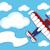 aereo · cartoon · banner · illustrazione · divertente · blu - foto d'archivio © hayaship