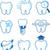 dental icons designs stock photo © hayaship