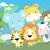 aranyos · szafari · állatok · orrszarvú · oroszlán · vektor - stock fotó © hayaship