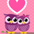 baykuş · sevmek · çift · sevimli · birlikte · dolunay - stok fotoğraf © hayaship