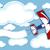 uçak · afiş · örnek · karikatür · mavi - stok fotoğraf © hayaship
